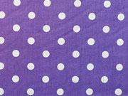 Punkte 0,7cm breit - lila/weiß