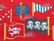 Totenköpfe Jolly Rogers, rot