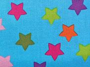 Maddox bunte Sterne 2,2cm auf türkis