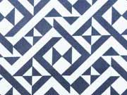 Stretchiger BW-Stoff Labyrinth-Muster, dunkelblau