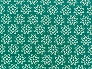 Baumwolle Streublümchen, petrol/weiß