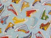 Baumwolle Sneaker Turnschuhe, hellblau