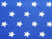 Sterne 2 cm, weiss auf royalblau