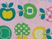Baumwollstoff kleine Äpfel, rosa