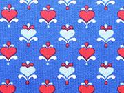 Lillestoff Bio-Jersey Baltic Love Kombi-royalblau