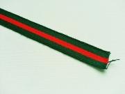 dickeres Weband (Gurtband) rot grün gestreift, 20mm
