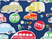 Dashwood Beep Beep - bunte Autos auf dunkelblau