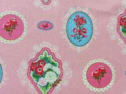 BW Belle-Fleur  Medaillons & Blumen-rosa
