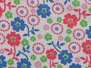 Baumwolle Blumen, bunt weiß