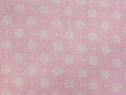 Baumwolle Blümchen - rosa/weiß