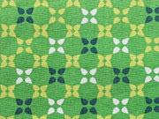 Baumwolle Kreuzblumen, grün