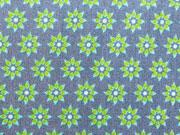 BW Mini Sonnenblumen-grün auf grau