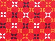 Baumwolle Kreuzblumen, rot