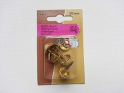 Bodennägel 4er Pack 15mm  für Taschen, goldfarben