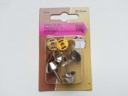 Bodennägel 4er Pack 15mm für Taschen, silber