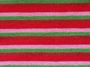 Ringelbündchen multicolor-rosa,grün,rot