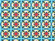 RESTSTÜCK 66 cm Carlitos Cameo Retromuster Lila-Lotta-hellgrün