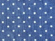 RESTSTÜCK 35 cm Chambray Punkte (0,3cm)  -dunkelblau