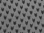 Chiffon mit Herzchen - schwarz