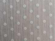 RESTSTÜCK 27 cm Chiffon Punkte - weiß