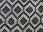 Chiffon/Spitze Rauten, schwarz
