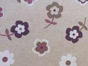 Dekostoff Blumen - altrosa/weiß/braun auf natur