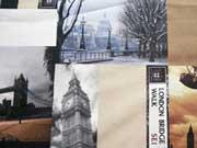 Dekostoff Digitaldruck Britische Impressionen