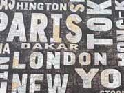 Dekostoff Stadt Namen & Landkarten