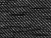 RESTSTÜCK 65 cm Jeansjersey Stoff Denim, anthrazit meliert