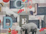 Digitaldruck Tiere & Buchstaben Patchwork Look