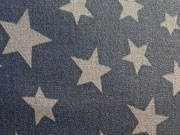 beschichtete BW div. Sterne, grau auf navy