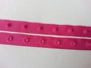 Druckerband-Druckknopfband Abstand 2,5 cm, pink