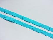 Druckknopfband, 5 cm - türkis