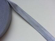 elastisches Falzband, 18 mm, hellgrau