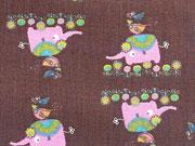 BW Elefanten & Vögel, braun