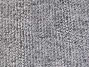 RESTSTÜCK 55 cm Sweatstoff French Terry, schwarz meliert