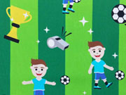Baumwolle Boyhood Fußball Hilco - grün