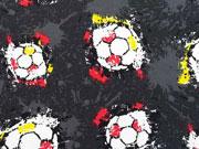 RESTSTÜCK 96 cm Jersey Fußball & Splash, grau