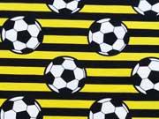 Jersey Fußball Streifen, gelb/schwarz
