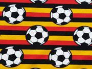 Jersey Fußball Streifen, schwarz/rot/gelb