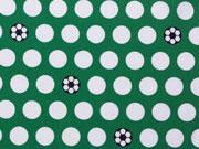 Baumwolle Sporty Dots Fußball Hilco - grün/weiß