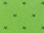 Glattes Bündchen grüne Sterne auf kiwigrün