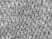 RESTSTÜCK 75 cm Glatter Strick Stoff Monaco- blaugrau melange