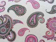 Gobelin Doubleface Paisley - pink auf natur