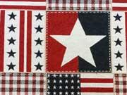 RESTSTÜCK 39 cm Gobelin Doubleface Sterne und Streifen USA