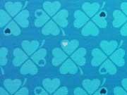 Jersey Kleeblätter by Graziela, blau