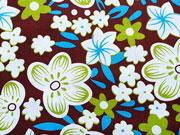 Baumwolle opulente Blumen, dunkelbraun