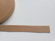 Gurtband Baumwolle 2,5 cm breit, camel 44