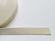 Gurtband Baumwolle 2,5 cm breit, natur #51