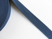 BW/Polyester Gurtband 3,2  cm breit, dk-jeansblau